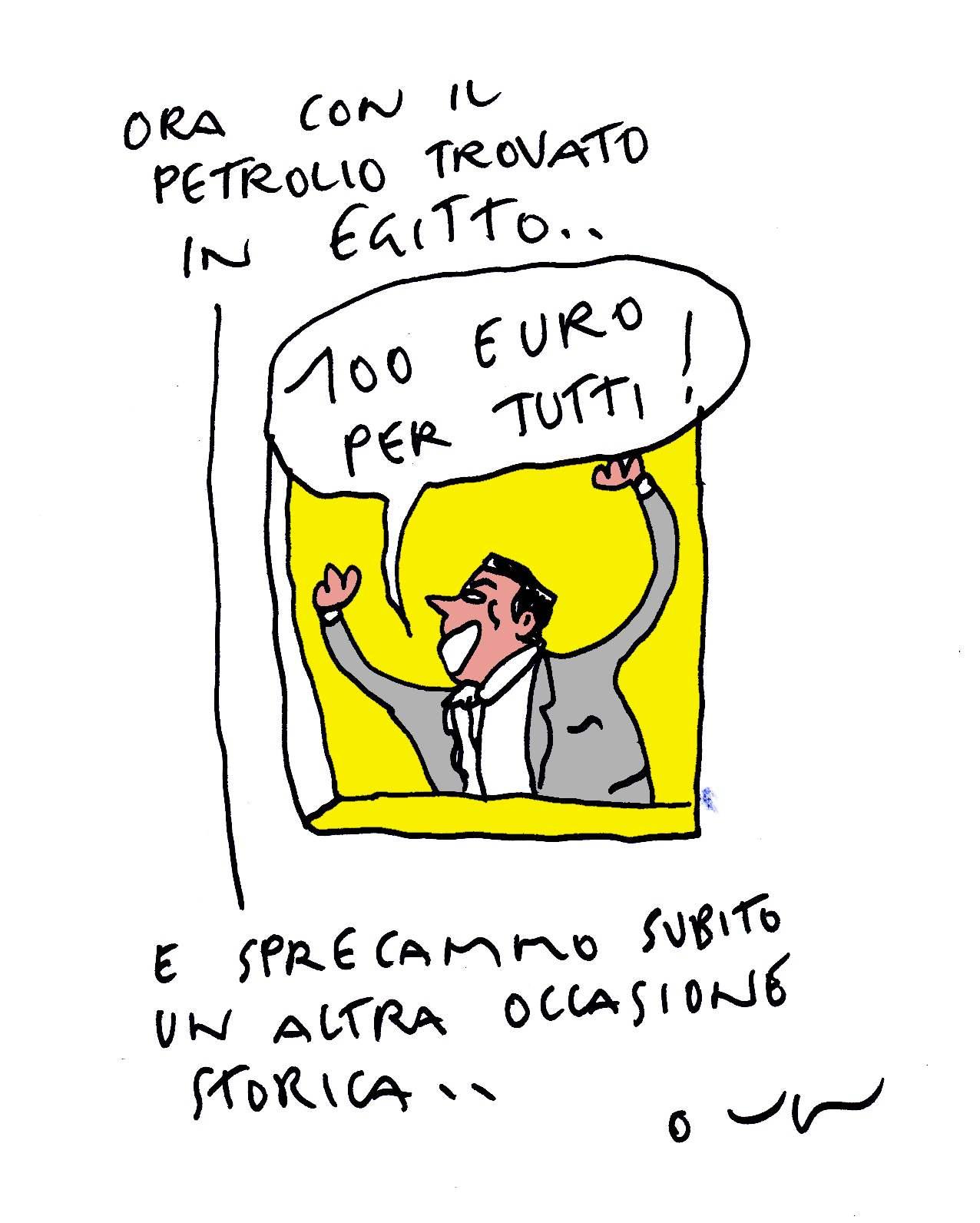 100 euri petrolio egittok