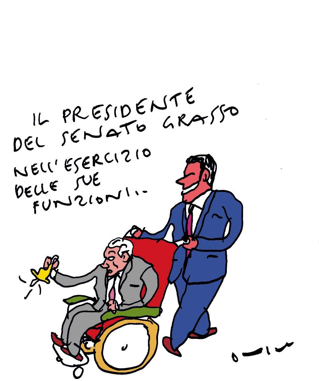 presidente in carrozzellka
