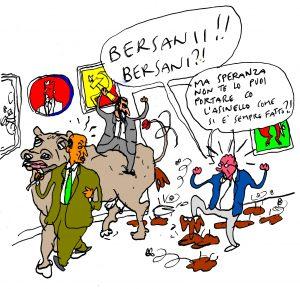 la famosa MUCCA nel corridoio di Bersani